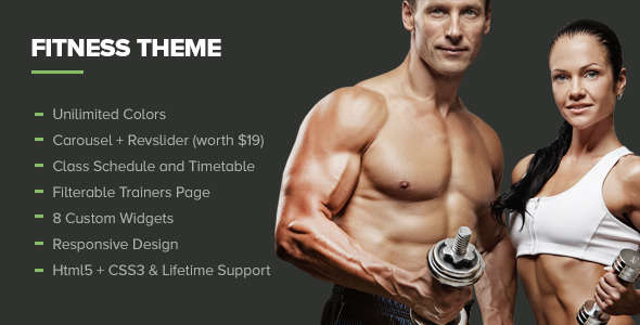 Fitness - Premium Gym WordPress Theme