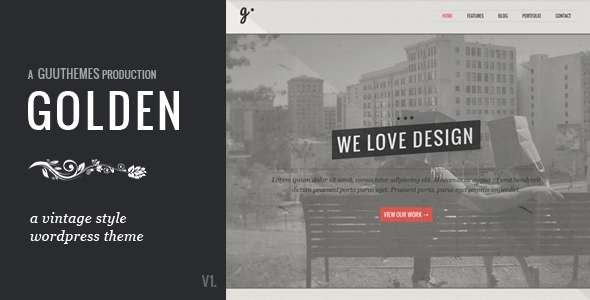 GOLDEN - Responsive Vintage WordPress Theme