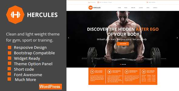 Hercules | Gym Fitness WordPress Theme