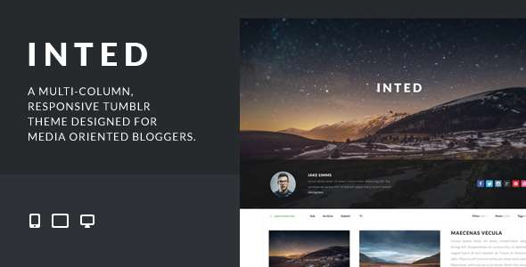 Inted - Multi-column, Responsive Tumblr Theme