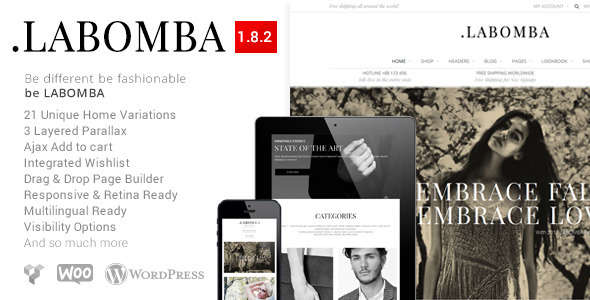 Labomba - Responsive Multipurpose WordPress Theme
