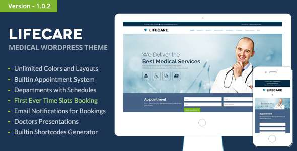 LifeCare - Responsive Medical WordPress Theme