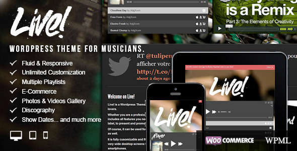 Live! - Music WordPress Theme