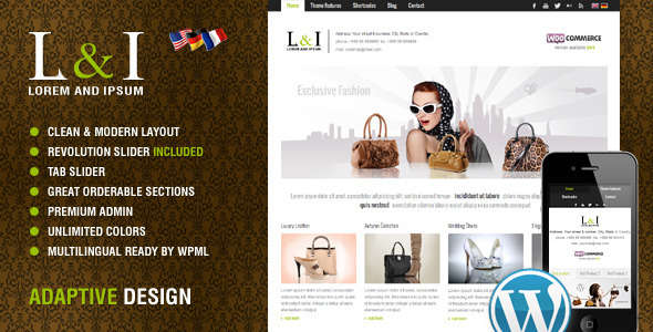 Lorem & Ipsum: Universal Corporate WordPress Theme