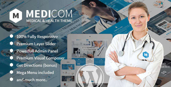 Medicom - Medical & Health WordPress Theme