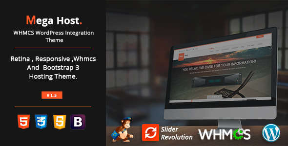 MegaHost - WHMCS WordPress Integration Theme