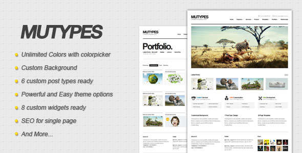 Mu Types - Clean Business WordPress Theme