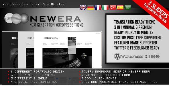 NewEra 3 in 1 WordPress Theme Ready in 10 Minutes