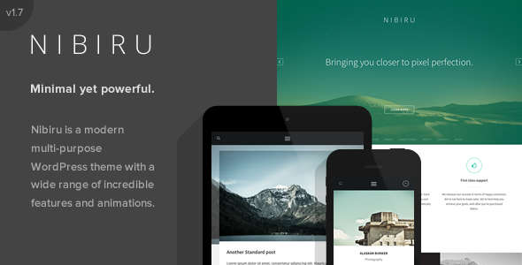Nibiru - Multi-Purpose Responsive WordPress Theme