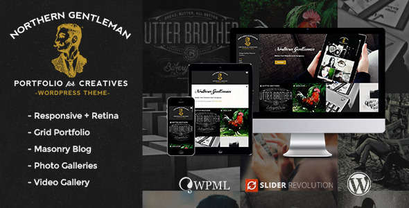 Northern Gentleman - Vintage Portfolio WP Theme