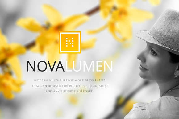 Novalumen - Modern WordPress Theme
