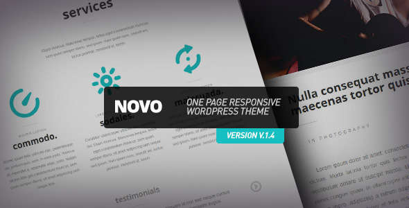 Novo - One Page Responsive WordPress Theme