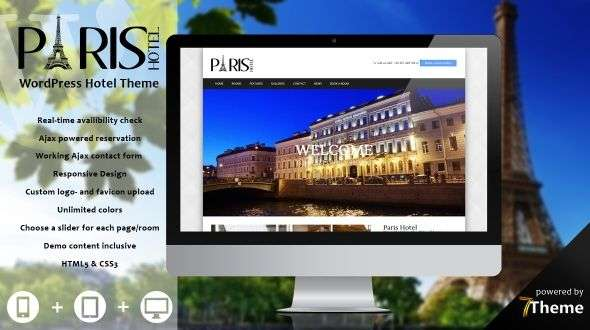 Paris - a WordPress Travel & Hotel Theme