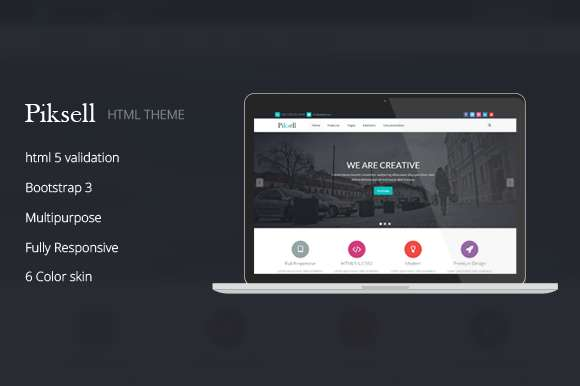Piksell - Responsive Website Theme