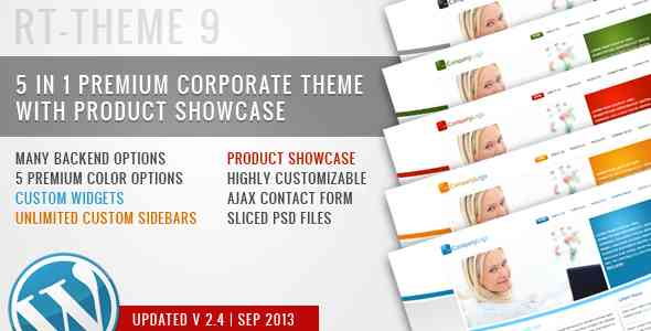 RT-Theme 9 / Business Theme 5 in 1 For WordPress