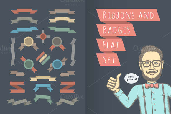 Ribbons, Badges and Hipster