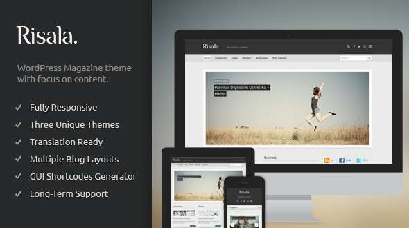 Risala - Responsive Magazine/Blog WordPress Theme