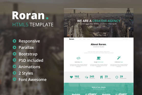 Roran - One Page Parallax Template