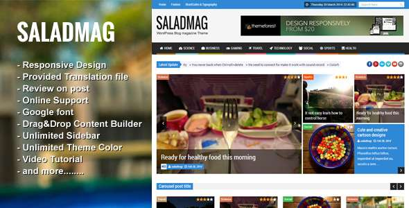 SaladMag - Responsive WordPress Magazine Theme