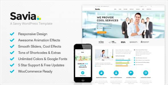 Savia - Responsive Multi-Purpose WordPress Theme