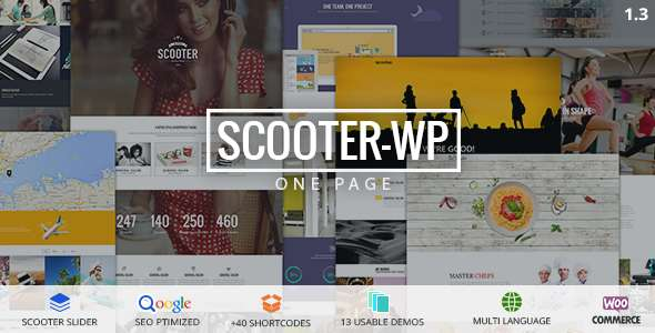 Scooter - One Page Multi-Purpose Theme