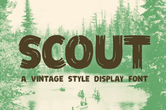 Scout - Vintage Style Display Font