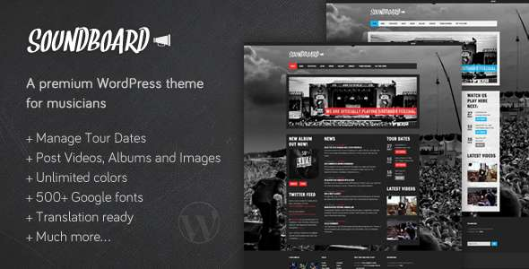 Soundboard - a Premium Music WordPress Theme