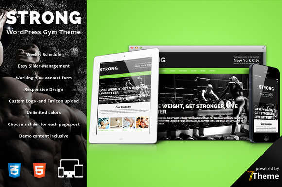 Strong - Gym, Sport WordPress Theme