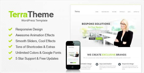 Terra - Responsive Multi-Purpose WordPress Templete