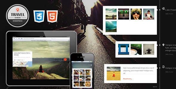 Travel Fullscreen Responsive Ajax WordPress Theme
