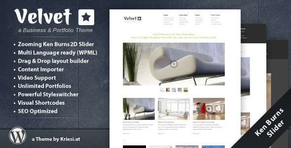 Velvet - Minimal Business Theme
