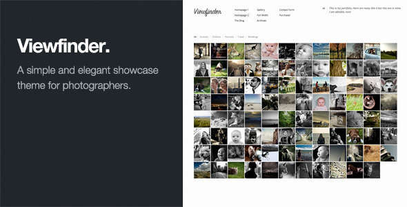 Viewfinder: Photography WordPress Theme