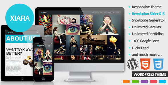 Xiara - Responsive WordPress One Page Parallax