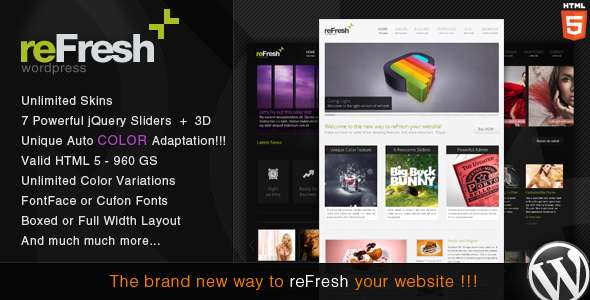 reFresh - Powerful Clean & Elegant WordPress Theme