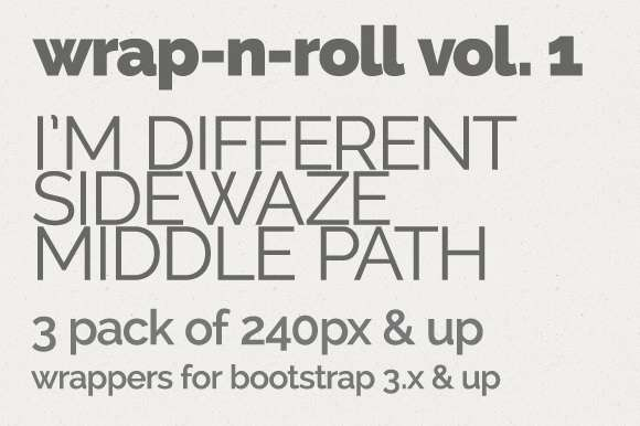 wrap-n-roll 3pk vol. 1 - 240px & up