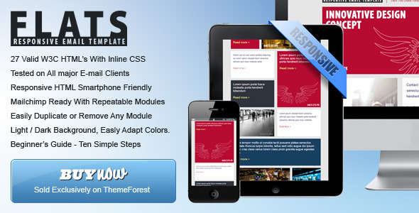27 General Flat Email Templates - Dark / Light