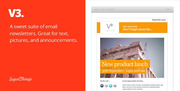 3 Email Newsletter designs