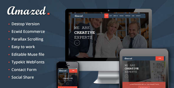 Amazed - Interactive Parallax Theme