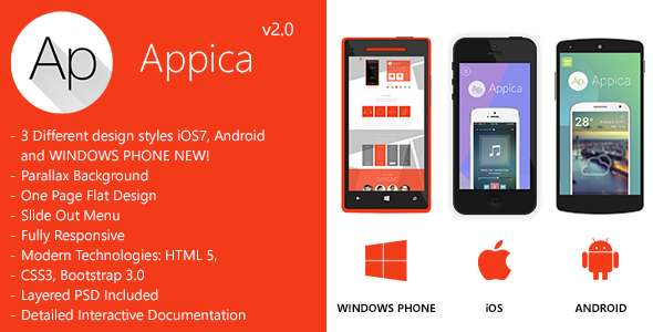Appica - Responsive App Landing Pages