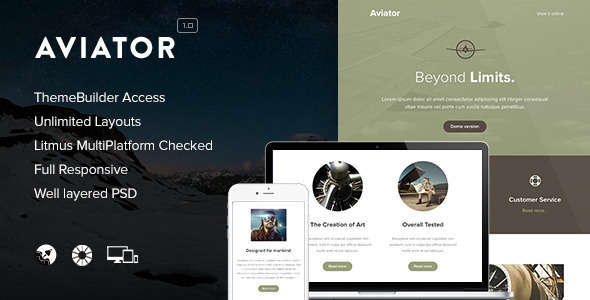 Aviator - Responsive Email + Themebuilder Access