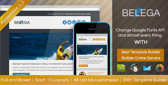 BELEGA-Flat Responsive Email With Template Builder