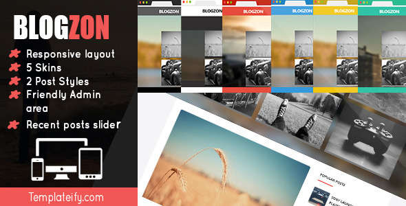 Blogzon: Responsive and Multipurpose Template