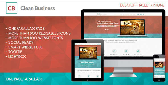 Clean Business One | Adobe Muse Template