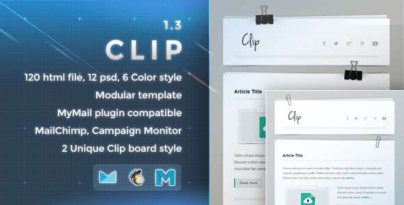 Clip - Responsive Email Template