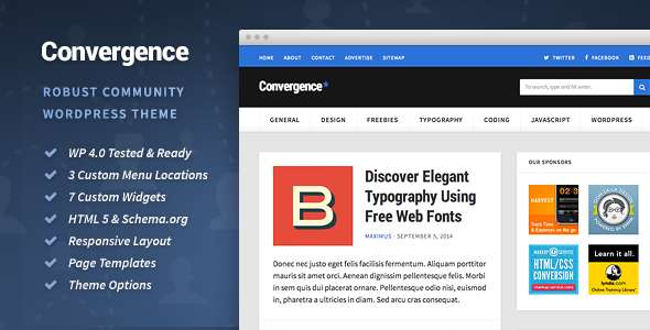 Convergence - Community WordPress Theme