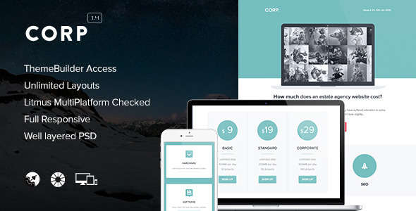 Corp - Responsive Email + Themebuilder Access