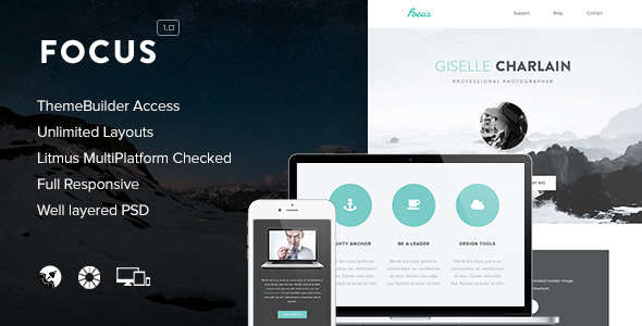 Focus - Clean & Responsive Ajax WordPress Theme