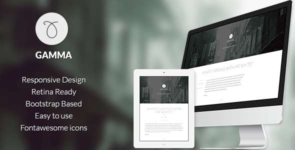Gamma - Responsive bootstrap Ghost theme