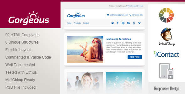 Gorgeous - Responsive Email Template