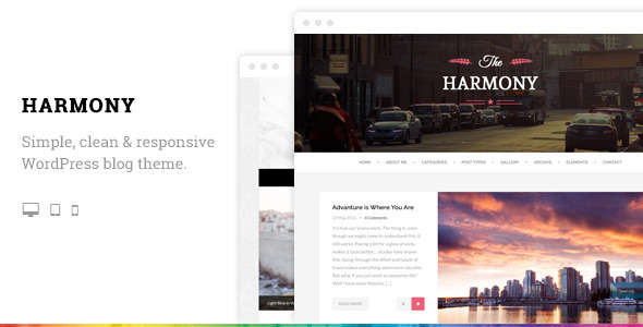 Harmony - Clean Responsive WordPress Blog Theme